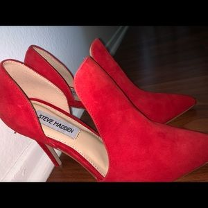 Steve Madden Red Suede Shoes